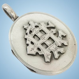 Antique Silver AEI Love Token Locket