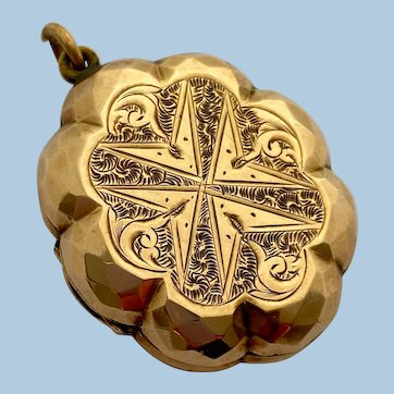 Unusual Antique Rose Gold Cased Locket Circa 1850