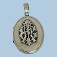 Victorian AEI Love Token Silver Locket