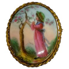 Victorian Miniature Handpainted Country Scene