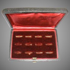 Antique Multi Ring Box for 12 wide rings