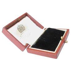 Quality Antique Edwardian ASPREY empty Earrings Jewelry Box