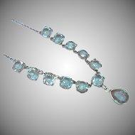 Large Antique Victorian SAPHIRET Necklace