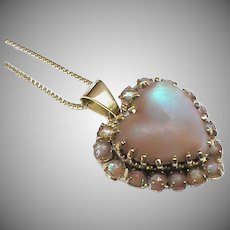 Antique Victorian Heart shape SAPHIRET Pendant