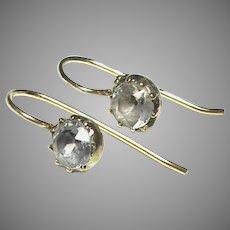 Antique Georgian Sterling Silver gilt Paste Earrings
