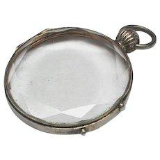 Antique Edwardian Silver Double Sided Locket Pendant