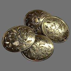 Antique 19th Century 9k 9ct Gold Cufflinks