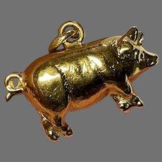 Antique Victorian 1900 9k 9ct Gold PIG Charm