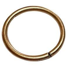 Super LARGE 19th Century 9ct 9k Rose Gold Split Ring