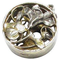 Antique Art Nouveau French Silver 800-900 Vinaigrette Pendant