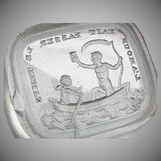 Antique 19th Century Loose Glass Intaglio Tassie Seal LOVE MAKES TIME PASS