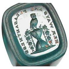 Antique 19th Century Loose Glass Intaglio Tassie Seal of an OWL