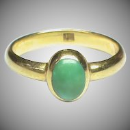 Quality Antique Victorian 18k 18ct Gold Turquoise Ring