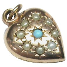 Antique Victorian Gold Filled Heart Charm