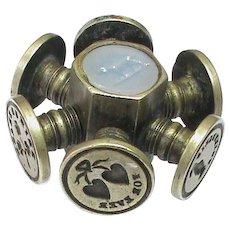 Antique Victorian Intaglio Seal Wheel with dog & heart & Irish connection