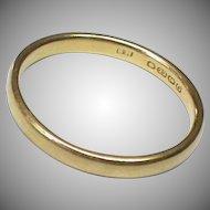 Vintage English 1938 22k 22ct Gold Wedding Band Ring