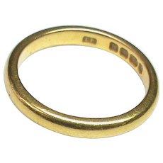Quality Large Vintage English 1948 22k 22ct Gold Wedding Band Ring