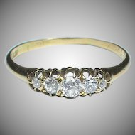 Antique c1910 18k 18ct Gold Diamond Ring