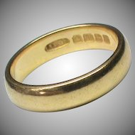 Quality Vintage Art Deco 1924 22k 22ct Gold Wedding Band Ring