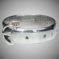 Antique Victorian 1882 Sterling Silver Buckle Ring