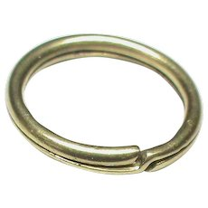 Small Antique Victorian 9k 9ct Gold Split Ring