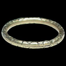 LARGE Antique 19th Century 9k 9ct Gold Split Ring for seals and fobs