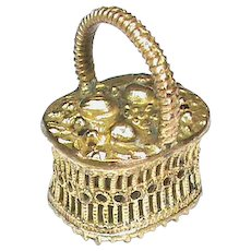 Antique Georgian Pinchbeck BASKET Seal MAY YOU BE HAPPY Intaglio