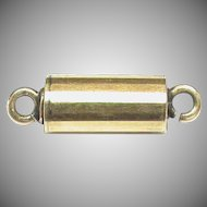Antique Victorian 12k 12ct Yellow Gold Barrel Clasp