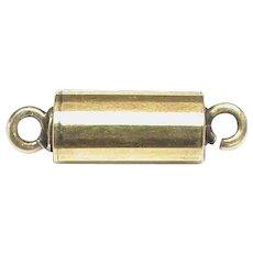 Antique Victorian 12k 12ct Yellow Gold Barrel Clasp