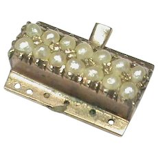 Antique Georgian 9k 9ct Gold Clasp with natural seed pearls
