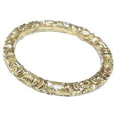 Antique 19th Century 15k 15ct Gold LARGE Split Ring