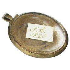 Antique Georgian gilt metal Mourning Locket Pendant