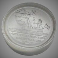 Antique 19th Century Loose Glass Intaglio Tassie Seal - Royal Navy Toast 'To our Wives & Sweethearts'