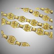 Antique Georgian Gilt Metal Long Chain Necklace