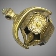 Antique 19th Century Intaglio Seal Wheel ALL SEEING EYE