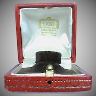 Antique Red CARTIER Ring Box