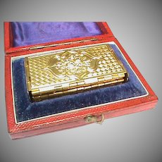 Antique Victorian metal Needle Case Holder - Boxed - attrib to Avery - 'Beatrice'