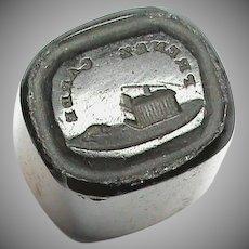 Antique 19th Century Loose Glass Intaglio Tassie Seal BEWARE Mouse Trap