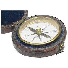 Antique Georgian Travelling Compass in Original Box