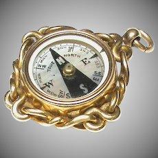 Antique Victorian 18k 18ct Gold Compass Fob