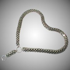 Antique Victorian Sterling Silver Collar Book Chain Necklace with star motif