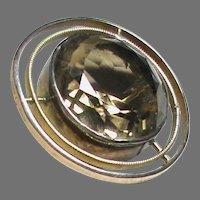 Antique 9k 9ct Gold Gem Brooch