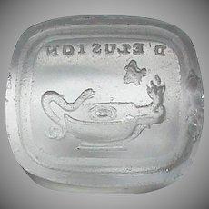 Antique 19th Century Loose Glass Intaglio Tassie Seal - Elusion / Deception