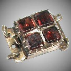 Antique Georgian 9k 9ct Gold Garnet Clasp