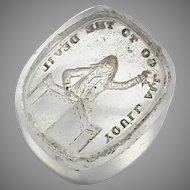 Antique 19th Century Loose Glass Intaglio Tassie Seal - You'll All Go To The Devil Preacher