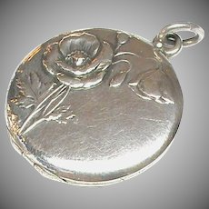 Antique Art Nouveau Silver 800-900 Locket