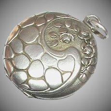 Antique French Art Nouveau Silver 800-900 Locket