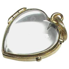 Antique Victorian Gold Fill Heart pools of light Locket Pendant