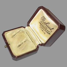 Antique Victorian c1900 Earring Box - Parisian