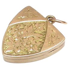 Antique Victorian 9k 9ct Gold Locket Pendant